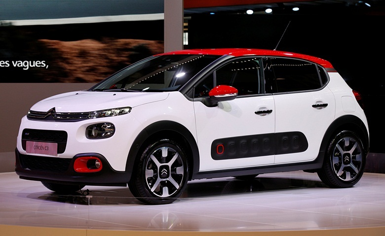 A new Citroen C3 car is displayed on media day at the Mondial de l'Automobile, the Paris auto show, in Paris, France, September 29, 2016. REUTERS/Jacky Naegelen