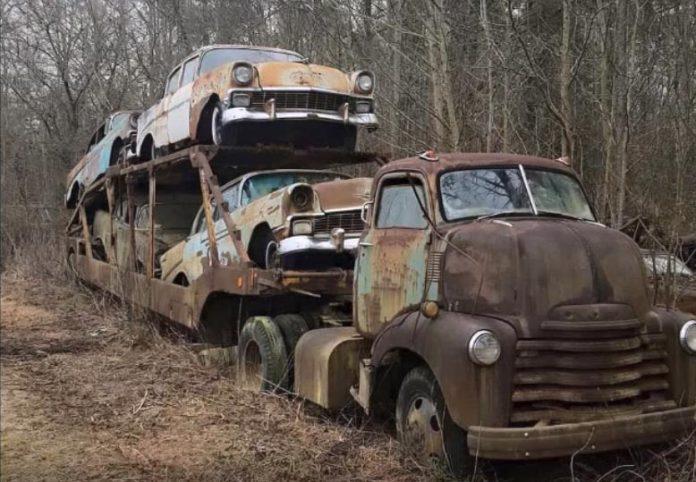 caminhão cegonha abandonado 05