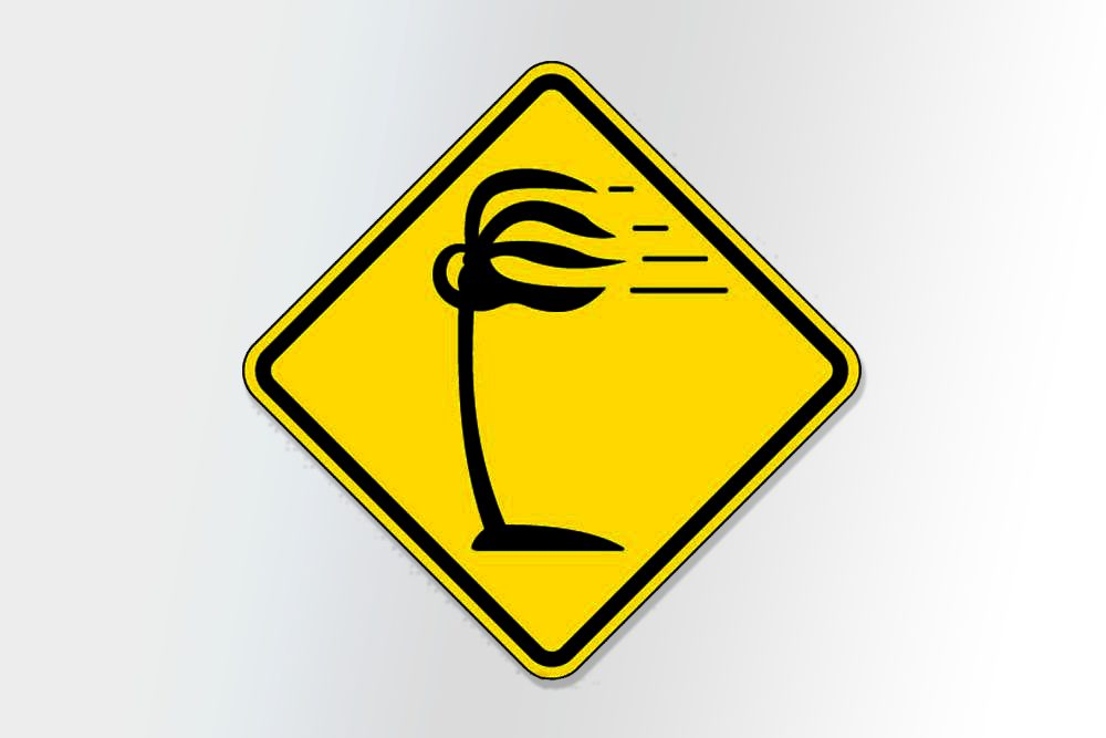 placas de transito bizarras vento lateral