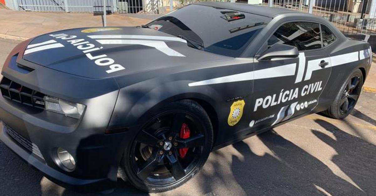 Camaro apreendido policia civil capa