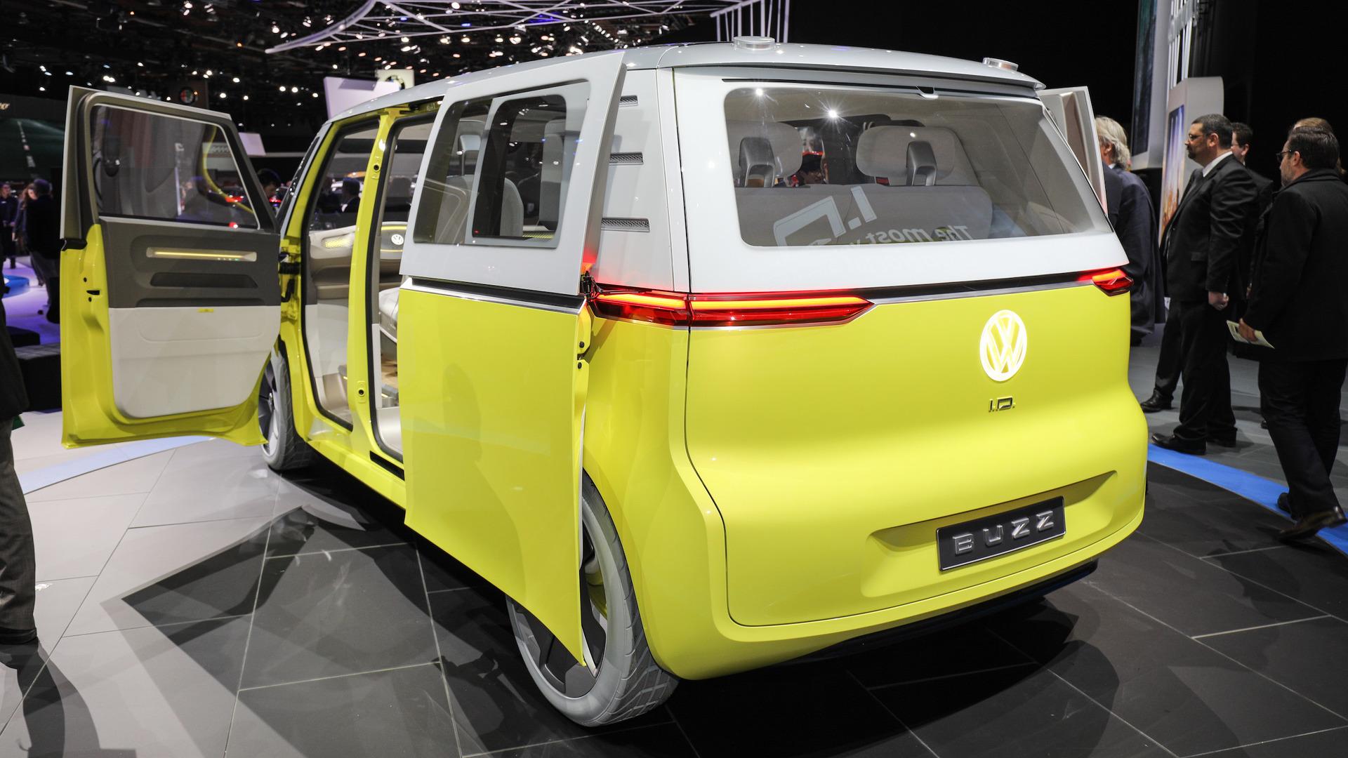volkswagen id buzz concept detroit 2017